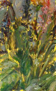 Auf Gelb, 2020, Öl auf MDF, 16 x 10 cm