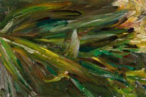August 6, 2020, Öl auf MDF, 16 x 11 cm