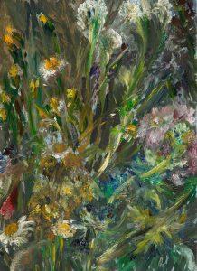 Der trockene Sommer 1, 2020, Öl auf MDF, 21 x 15 cm