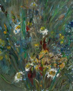 Der trockene Sommer 2, 2020, Öl auf MDF, 20 x 16 cm