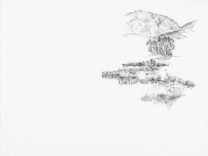 Emilsruhe 1, 2000, Bleistift auf Papier, 22 cm x 29,5 cm