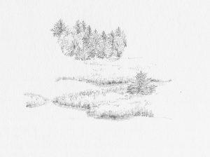 Emilsruhe 2, 2000, Bleistift auf Papier, 22 cm x 29,5 cm