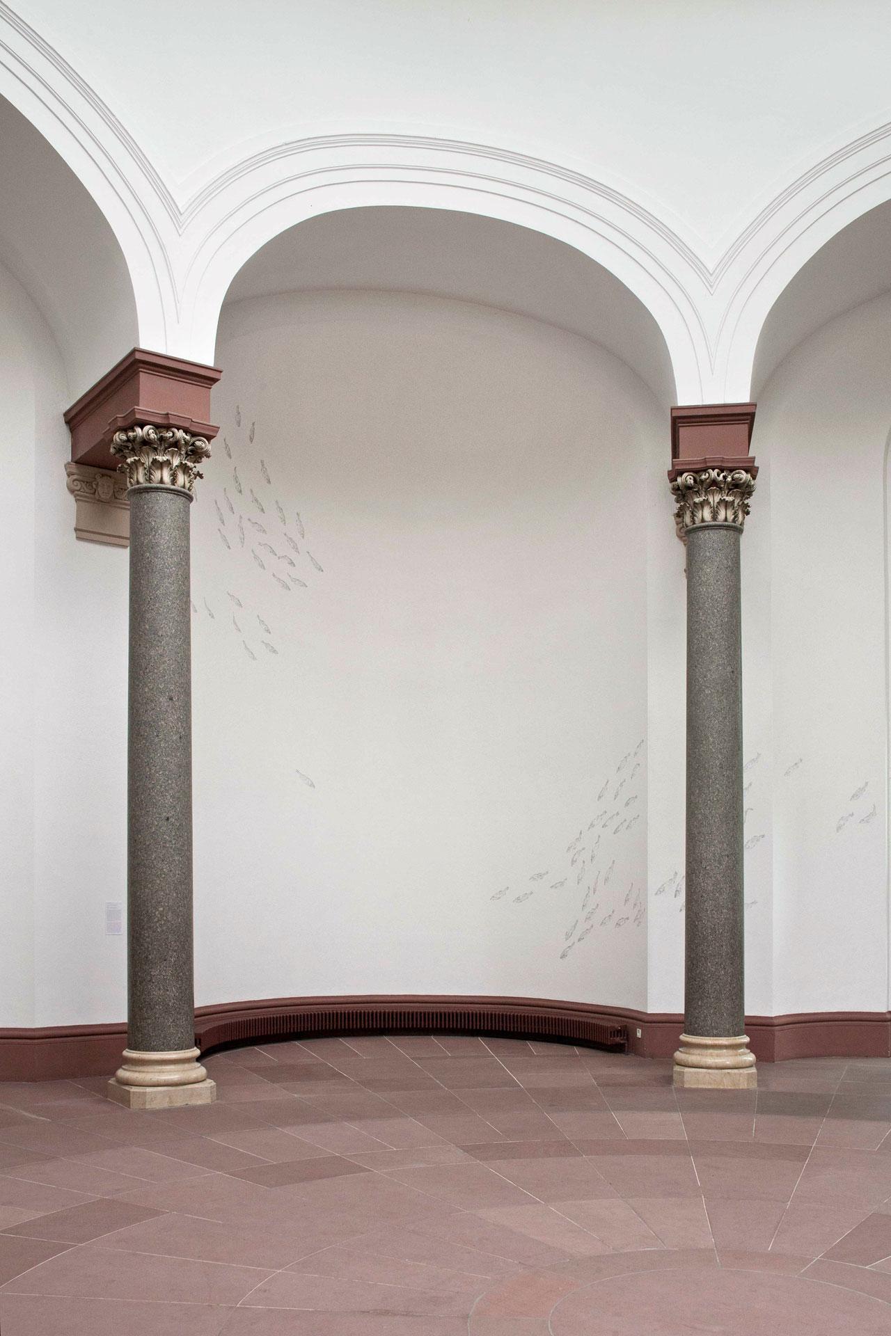 Wandzeichnung, 2013, Rotunde Staatliche Kunsthalle Karlsruhe