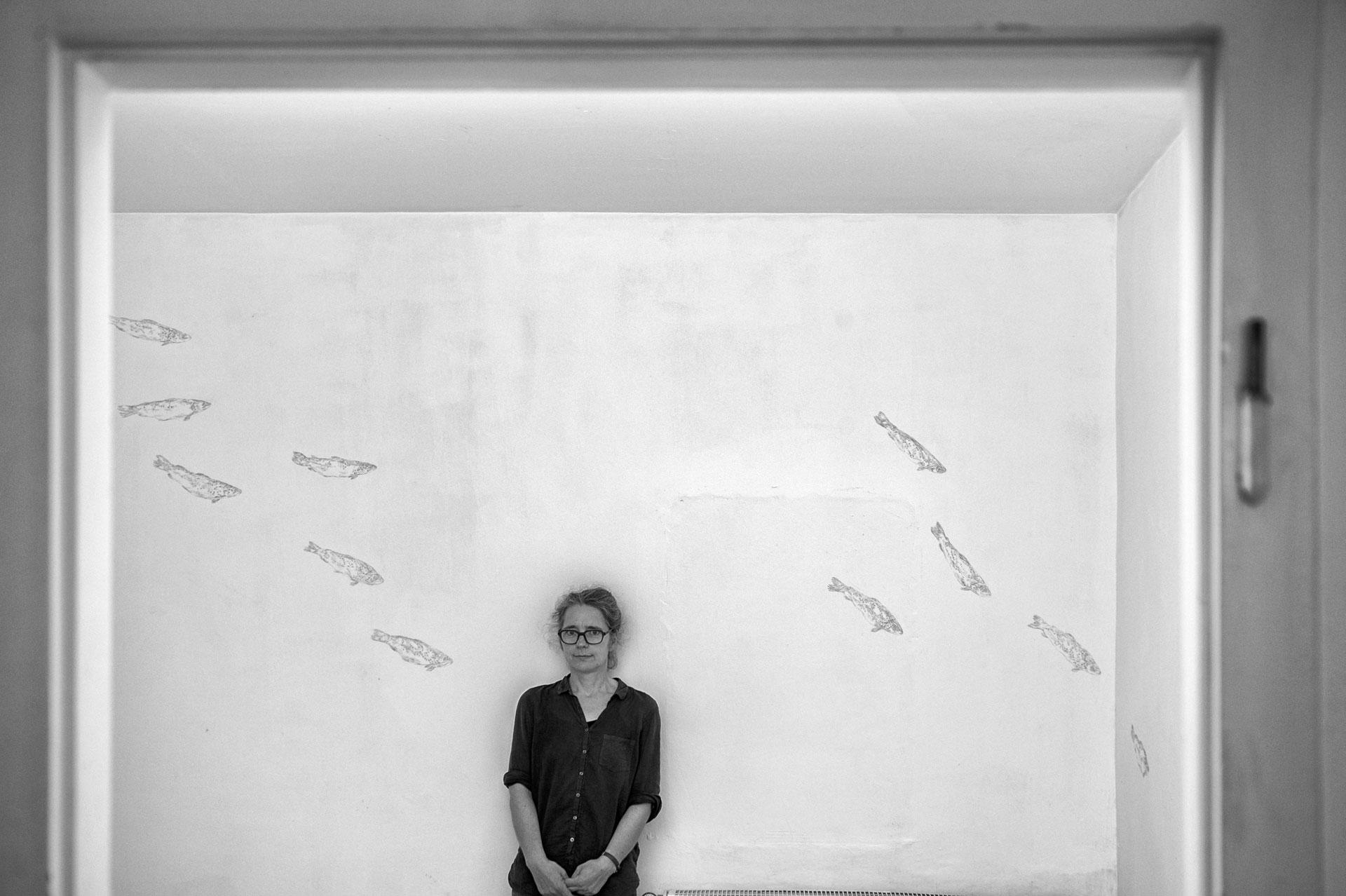 Wandzeichnung, 2013, Galerie-Zement, Frankfurt am Main