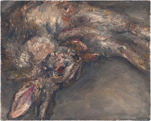 Hasenmalen 1, 2003, Öl auf Malpappe, 24 x 30 cm