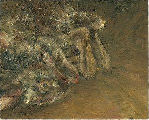 Hasenmalen 3, 2003, Öl auf Malpappe, 24 x 30 cm