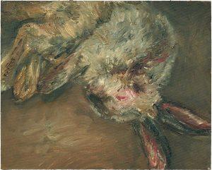 Hasenmalen 6, 2003, Öl auf Malpappe, 24 x 30 cm