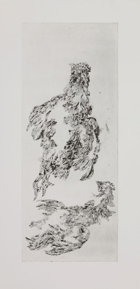 Hühner (Himmelfahrt), 2016, 120 x 60 cm