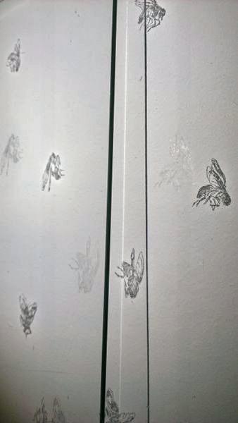 Fliegen, 2013, 2 Glasgravuren, je 28 x 21 cm