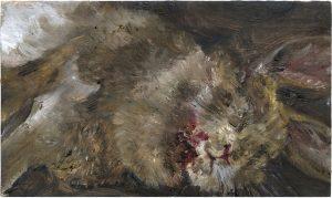 Kaninchen 1, 2009, Öl auf Pappe, 14,2 x 24 cm
