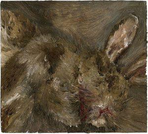 Kaninchen 2, 2009, Öl auf Pappe, 9,5 x 17,5 cm