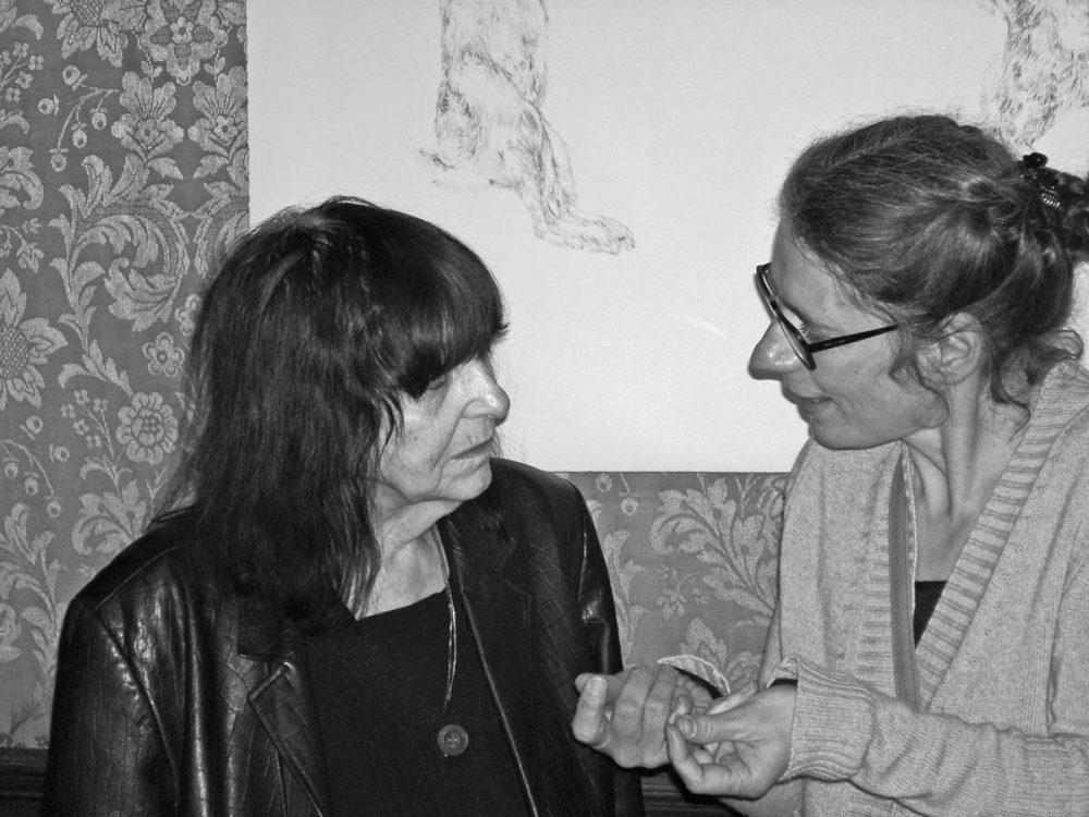 Im Gespräch mit Friederike Mayröcker anlässlich der Lesung der Schriftstellerin im Künstlerhaus Wien, 2010