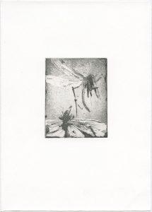 Ohne Titel, 2013, Aquatinta, 10 x 8 cm