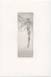 Ohne Titel, 2013, Kaltnadelradierung, 10,5 x 3,5 cm