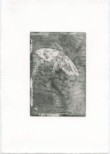 Ohne Titel, 2013, Strichätzung und Aquatinta, 15 x 10 cm