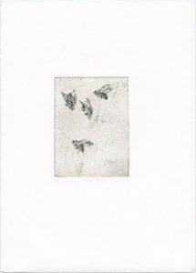 Ohne Titel, 2013, Strichätzung, 9,5 x 7 cm