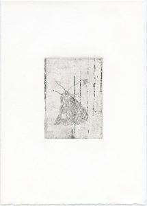 Ohne Titel, 2014, Strichätzung, 10,5 x 7,5 cm