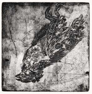 Ohne Titel, 2009, Strichätzung, 11,8 x 11,5 cm