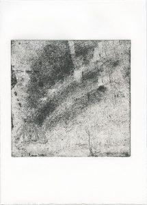 Ohne Titel, 2014, Strichätzung, 15,2 x 15,5 cm