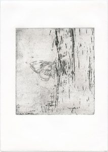 Ohne Titel, 2014, Strichätzung, 15,5 x 14 cm