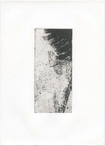 Ohne Titel, 2014, Strichätzung, 15,5 x 7 cm