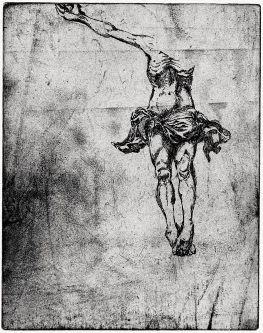 Ohne Titel, 2006, Strichätzung, 11,4 x 11 cm