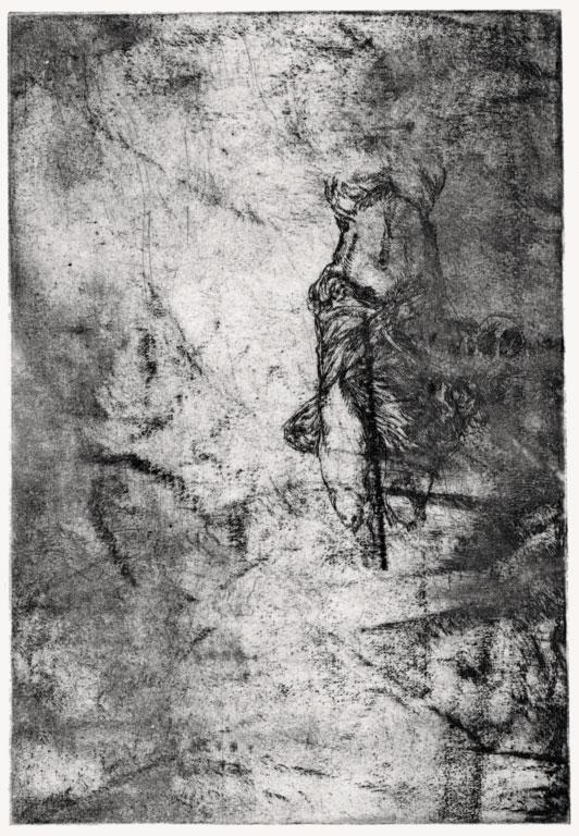Ohne Titel, 2006, Strichätzung, 11,5 x 10,5 cm