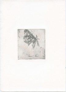 Ohne Titel, 2014, Strichätzung, 9 x 8 cm