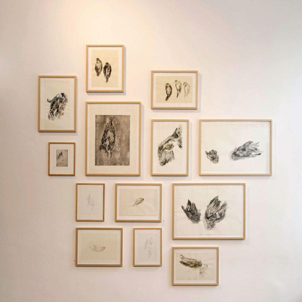 Spinner und Schwärmer, Leporello, 2016, Heussenstamm Galerie Frankfurt am Main (Ausstellungsansicht)