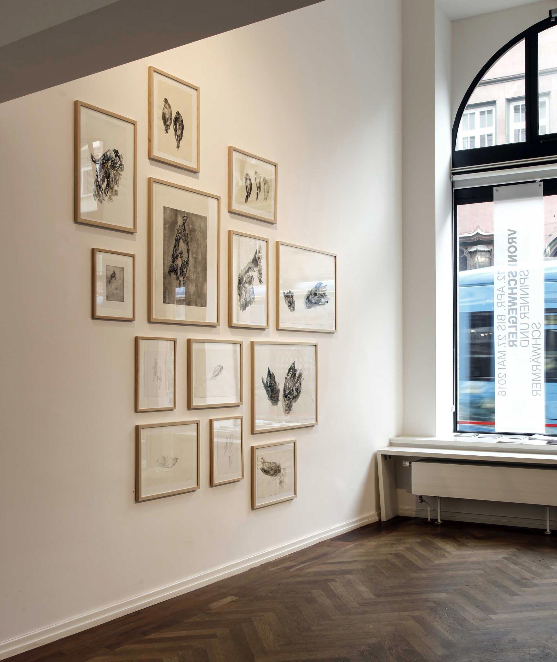Spinner und Schwärmer, 2016, Heussenstamm Galerie Frankfurt am Main (Ausstellungsansicht)