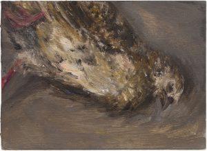 Wachtel 1, 2009, Öl auf Pappe, 13 x 18 cm
