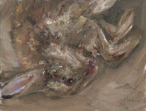 Kleines Kaninchen 1, 2011, 18 x 24 cm, Öl auf Malkarton