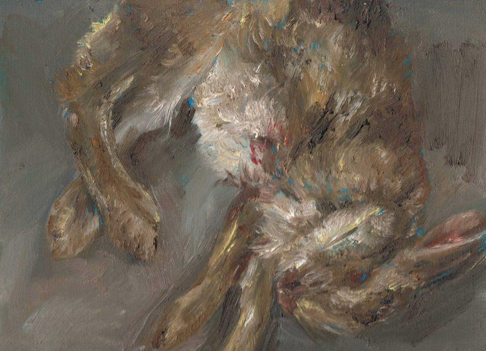 Kleines Kaninchen 1a, 2011, Öl auf Malkarton
