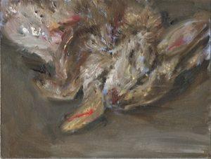 Kleines Kaninchen 2, 2011, 18 x 24 cm, Öl auf Malkarton