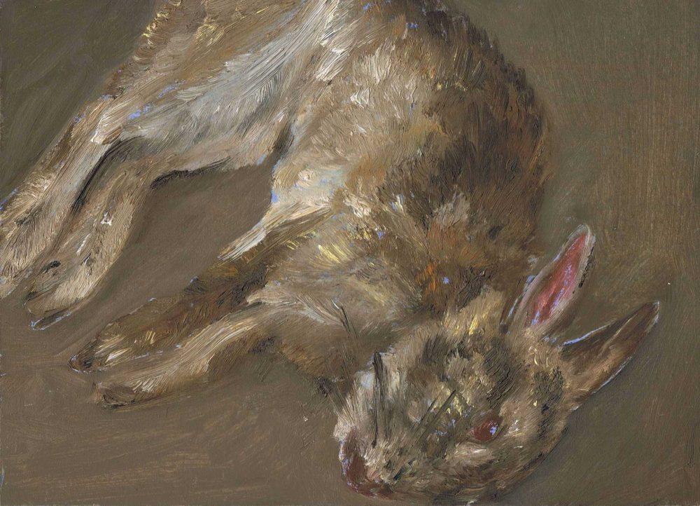Kleines Kaninchen 2a, 2011, Öl auf Malkarton