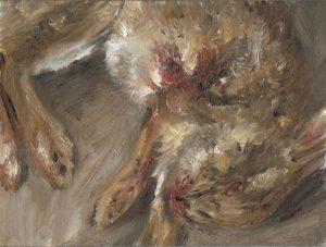 Kleines Kaninchen 3, 2011, 18 x 24 cm, Öl auf Malkarton