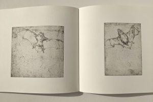 """Doppelseite aus dem Buch Bestiarium"""", 2006"""