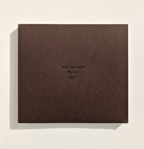 """Umschlag """"Herbar"""", Künstlerbuch, 2007"""