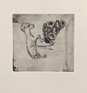 """Blatt """"ovis aries"""", aus der Mappe Anatomie 1, 2005"""